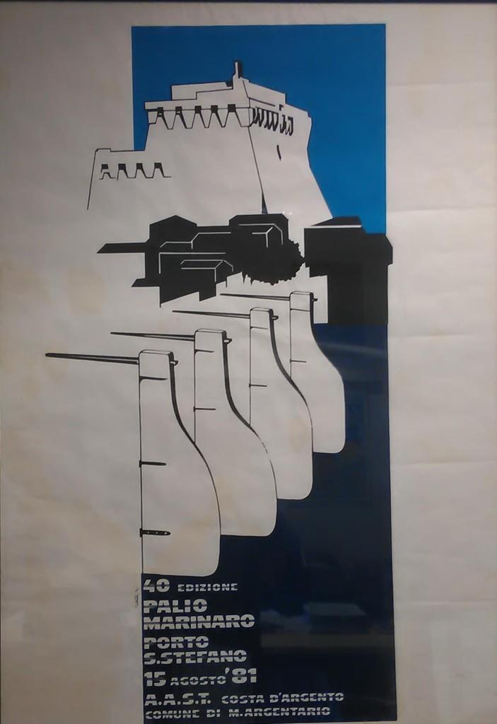 Manifesto 40° Palio Marinaro<br>GABRIELLO MARINI
