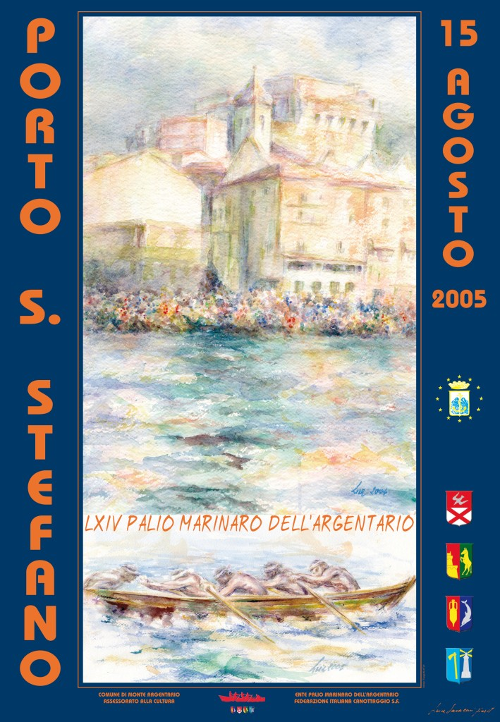 Manifesto 64° Palio Marinaro<br>LUISA SARACENI