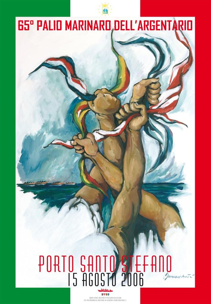 Manifesto 65° Palio Marinaro<br>LUCIO BONAVOLONTÀ