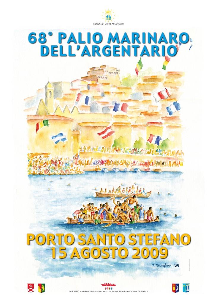 Manifesto 68° palio Argentario<br>MARIO WONGHER