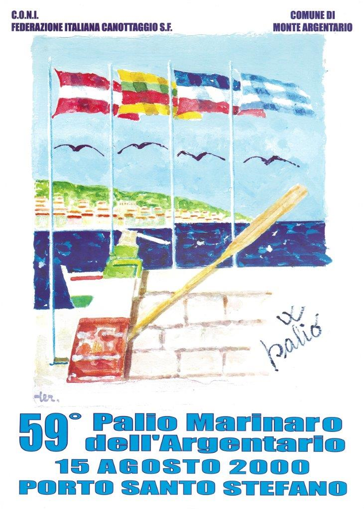 Manifesto 59° Palio Marinaro<br>PUBLIO TERRAMOCCIA