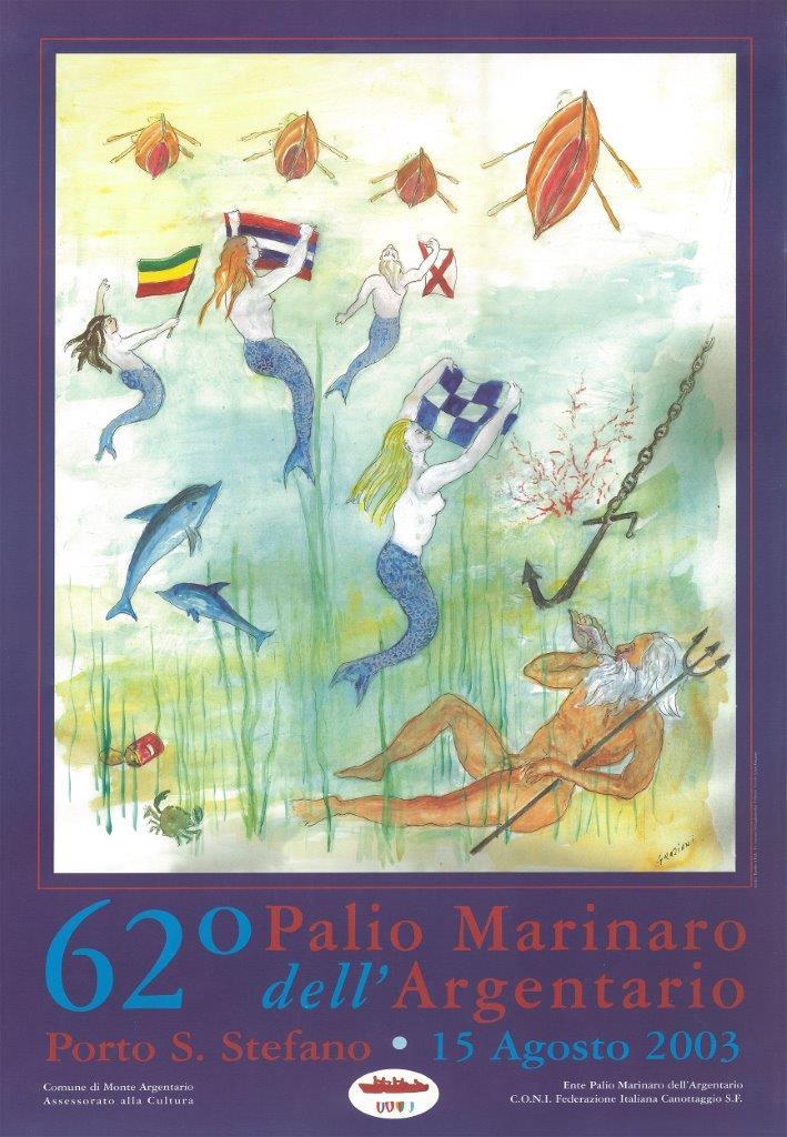 Manifesto 62° palio Marinaro<br>ENNIO GRAZIANI