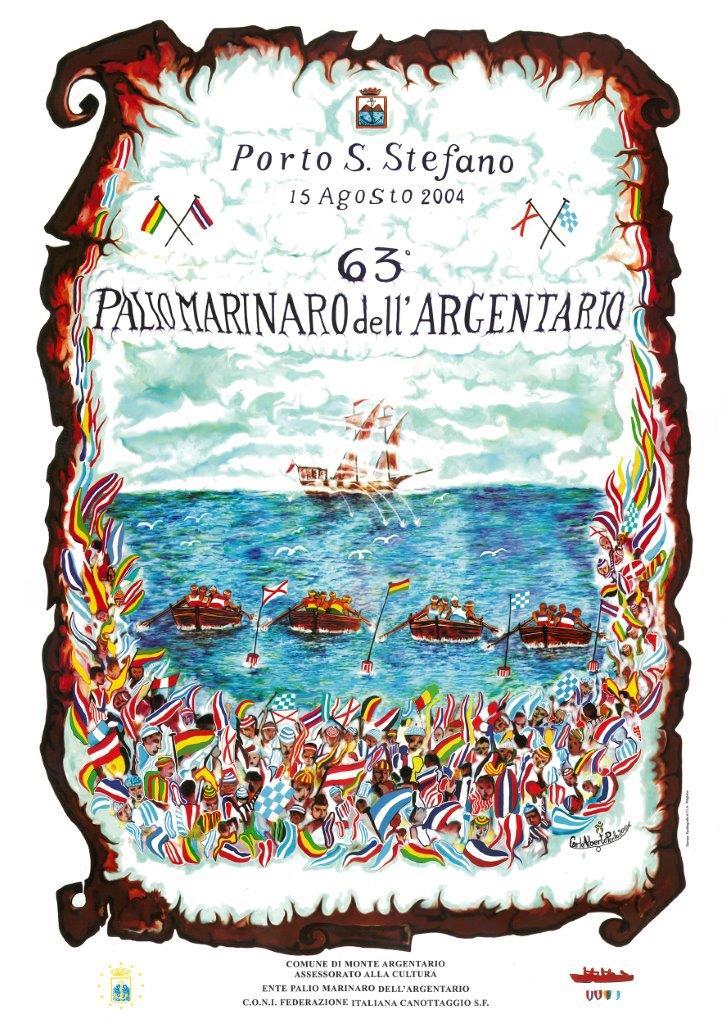 Manifesto 63° Palio Marinaro<br>CARLO ALBERTO PERILLO