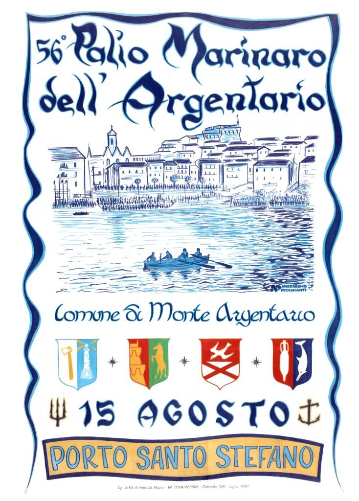 Manifesto 56° Palio Marinaro<br>NAZZARENO PICCHIANTI