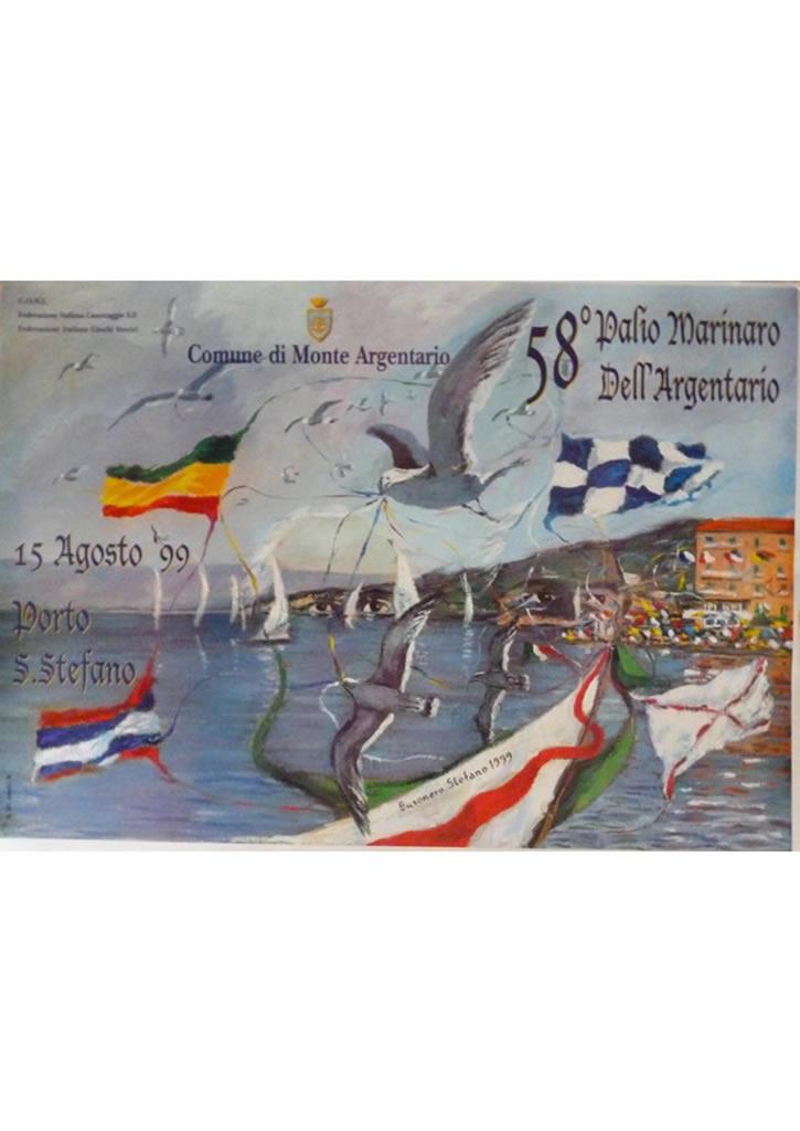 Manifesto 58° Palio Marinaro<br>STEFANO BUSONERO